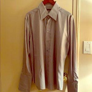 Gucci grey men's shirt. Size 42. 16 1/2.Like new.